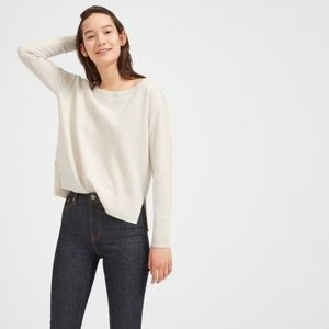 Everlane slouchy cashmere boatneck